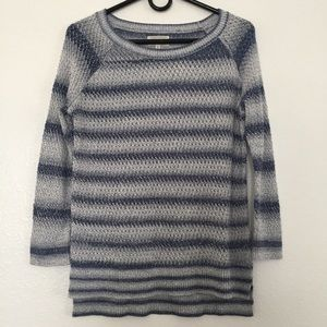 Lou & Grey Striped Loose Knit Tunic Top Size M